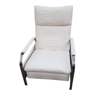 1970s Vintage Design Institute of America Chrome Reclining Lounge Chair For Sale