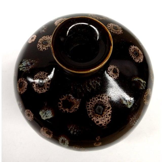 Drip Glaze Black Porcelain Bud Vase - Image 8 of 10