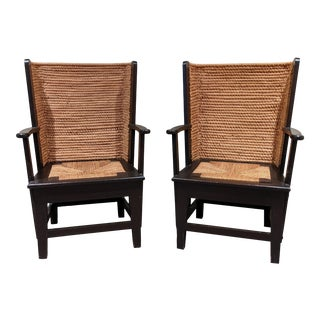 1990s Children's Scottish Orkney Island Wingback Chairs - a Pair For Sale