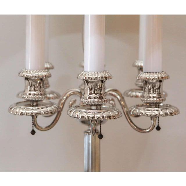 Georgian Style Candelabra Floor Lamp For Sale In Los Angeles - Image 6 of 11