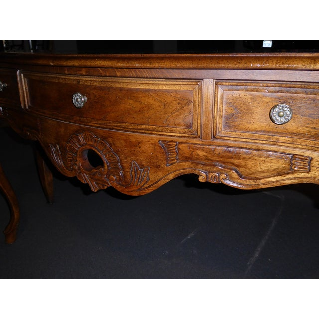 Vintage Century Furniture French Style Oak Console Table For Sale In Los Angeles - Image 6 of 11