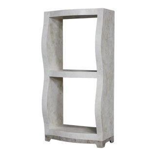 "Postmodern Two Shelf Tessellated Stone ""Monaco"" Étagère, 1990s For Sale"