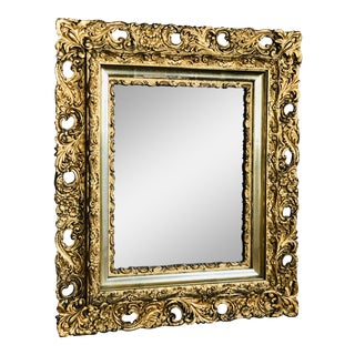 Antique Rococo-Style Gold Mirror For Sale