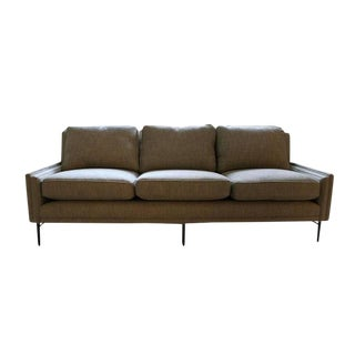 Customizable Allen Stepped Arm Three-Seat Sofa For Sale