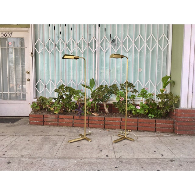Vintage Brass Floor Lamps - A Pair - Image 2 of 7