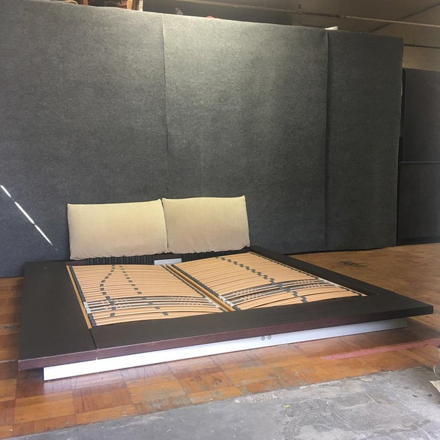A queen size Ligne Roset bed designed by Peter Maly. Customer told us he purchased the bed from a friend for $2,200. Newer...