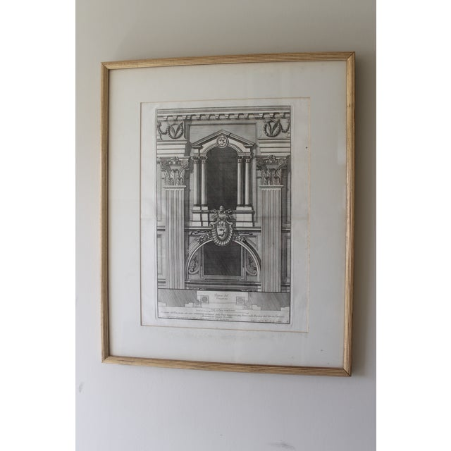 Early 19th Century Antique Prospetto Del Finestreno Architectural Print For Sale - Image 12 of 12