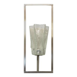 Architectural Clear Murano Star Sconces by Fabio Ltd For Sale