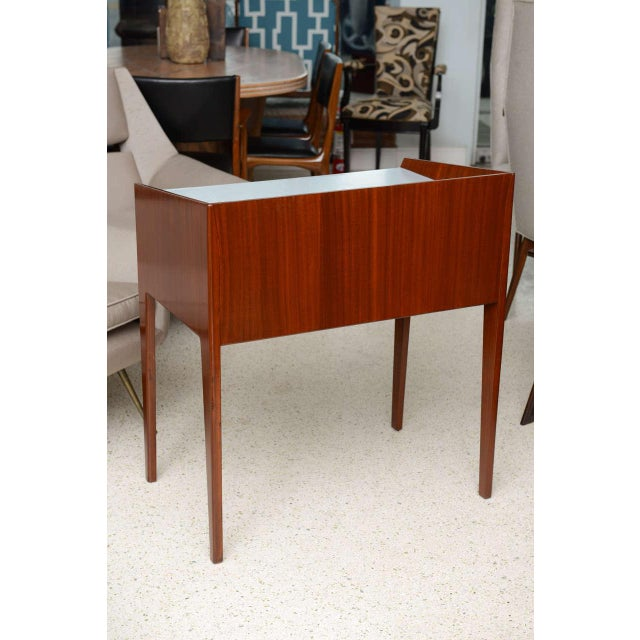White Rare Pair of Mahogany and Formica Side Tables in Style of Gio Ponti, Italy 1950s For Sale - Image 8 of 11