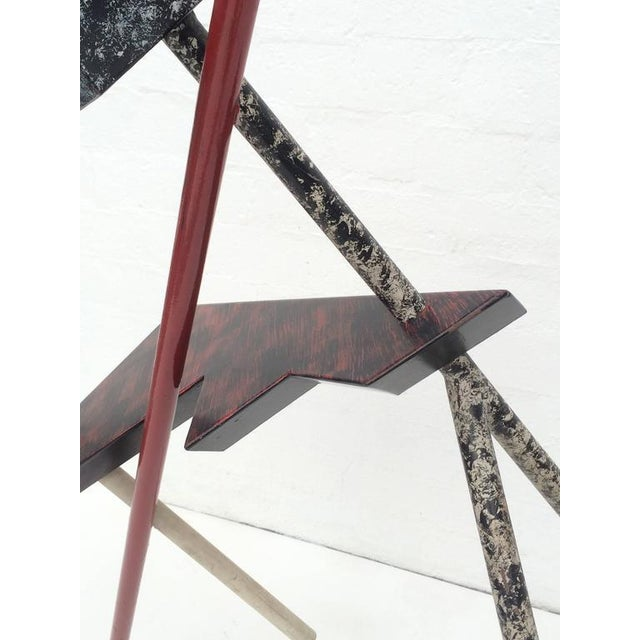 Memphis Acrylic Painted Steel Sculpture - Image 6 of 10