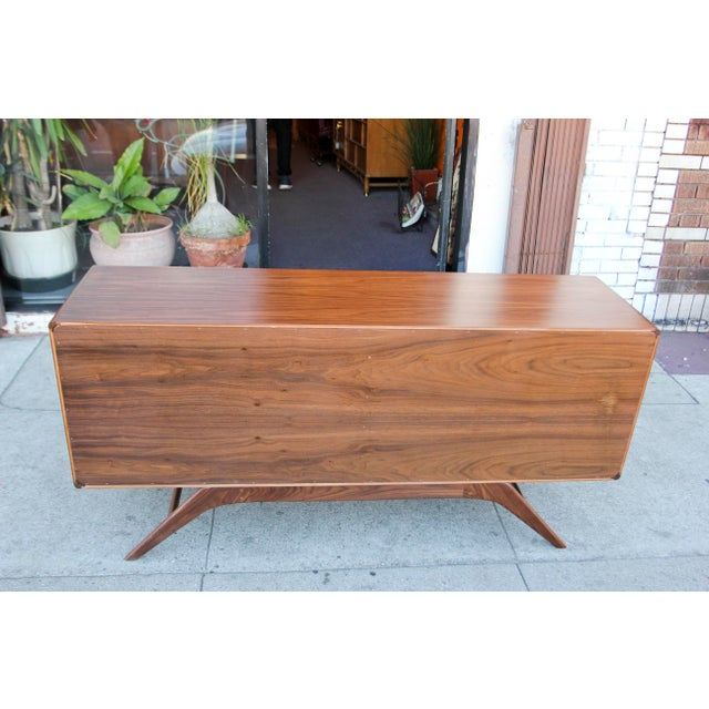 Mid-Century Walnut Credenza For Sale - Image 4 of 12