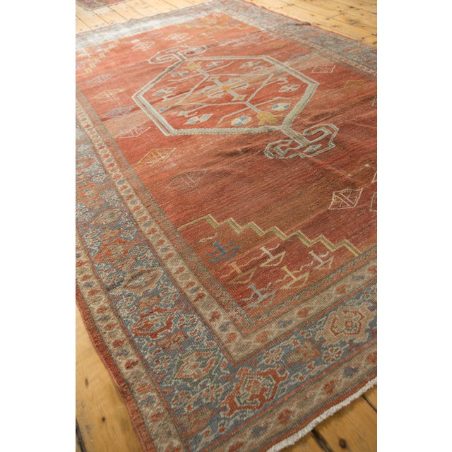 "1920s Vintage Distressed Mahal Carpet - 6'5"" X 9'2"" For Sale - Image 5 of 13"