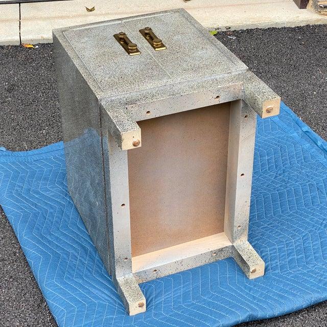Karl Springer Style Cabinet Side Table For Sale - Image 10 of 13