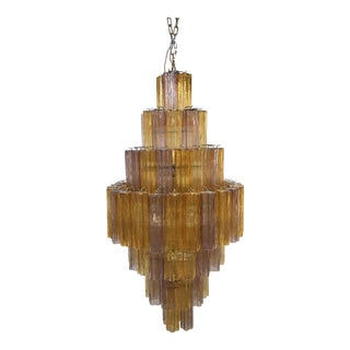 "Modern Murano Glass ""Tronchi"" Chandelier For Sale"