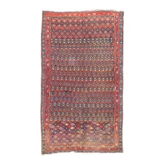 Distressed Antique Persian Kurd Rug - 04'05 X 07'06 For Sale