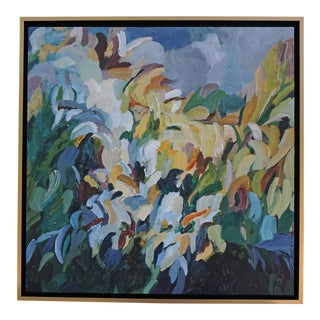 """""""Vertical Garden"""" Acrylic Painting by Laurie MacMillan, Framed For Sale"""