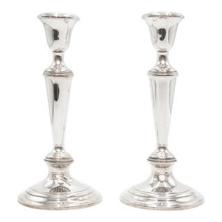 Gorham Sterling Silver Candlesticks - a Pair For Sale