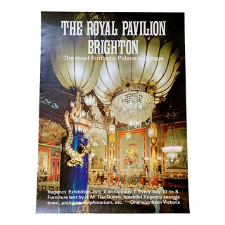 1960s Brighton Royal Pavilion Design Exhibition Poster For Sale