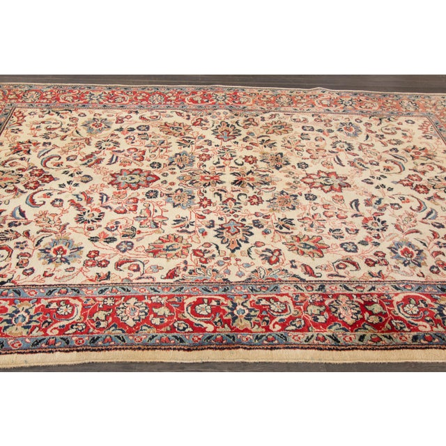"Apadana Persian Rug - 6'1"" X 9'3"" For Sale - Image 4 of 4"