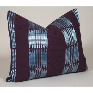 Handwoven African Aso Oke Lumbar Pillow Cover Preview