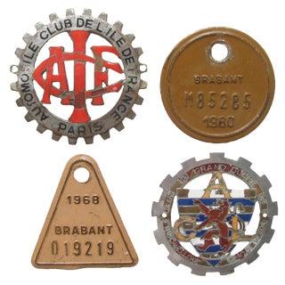 Paris & European Vehicle Badges, S/4 For Sale