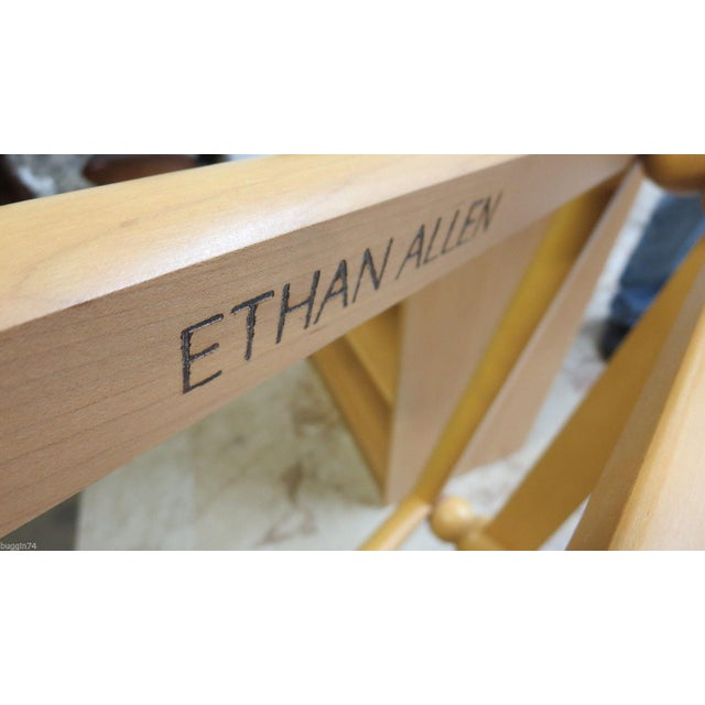 Glass Ethan Allen Floating Glass End Table For Sale - Image 7 of 7