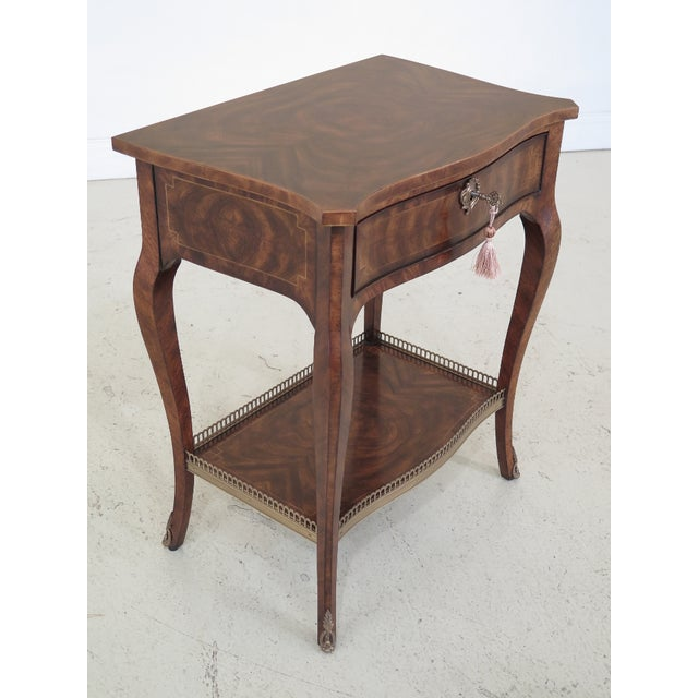 French Theodore Alexander French Louis XV Mahogany Nightstand For Sale - Image 3 of 13