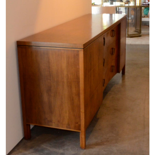 John Stuart for Widdicomb Walnut Dresser with Brass Pulls - Image 4 of 8
