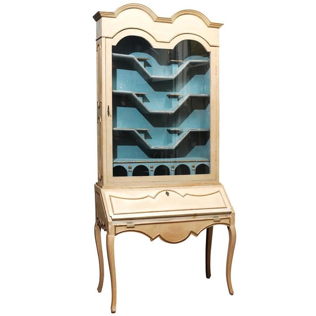 Italian Painted Secretary and Display Cabinet - Image 1 of 6