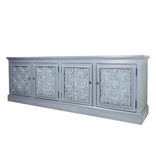 Grey Cerused Credenza For Sale