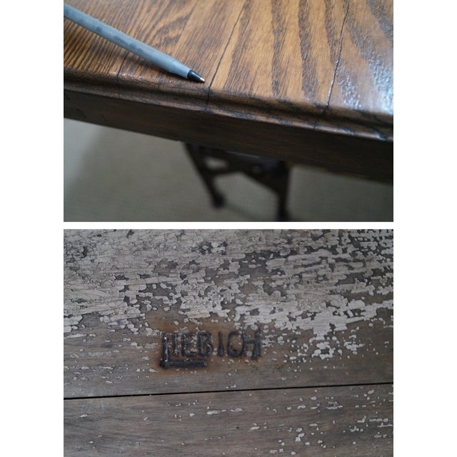 Hand Crafted Iron Base Gothic Writing Desk For Sale - Image 7 of 10