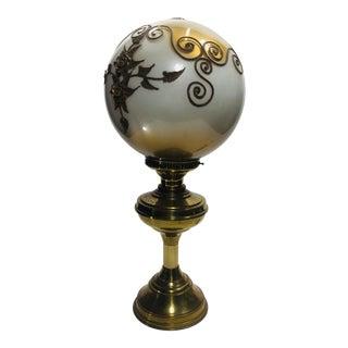 Vintage Karl Falkenstein Hollywood Regency Gold Leaf Globe on Brass Base For Sale