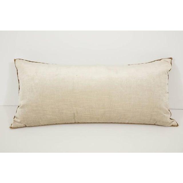 Long Velvet Embroidered Pillow For Sale In New York - Image 6 of 8
