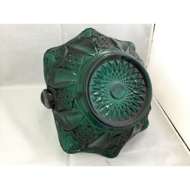Art Nouveau 1990s Vintage Glass Wedding Basket For Sale - Image 3 of 7
