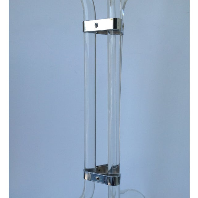 Chrome Dorothy Thorpe Lucite Champagne / Wine Holder For Sale - Image 7 of 11