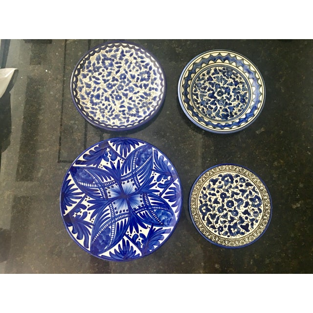 Blue & White Wall Plates - Set of 4 - Image 2 of 6