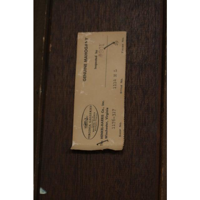 Henkel Harris Model 1114 Mahogany Large Corner Cabinet For Sale - Image 11 of 12