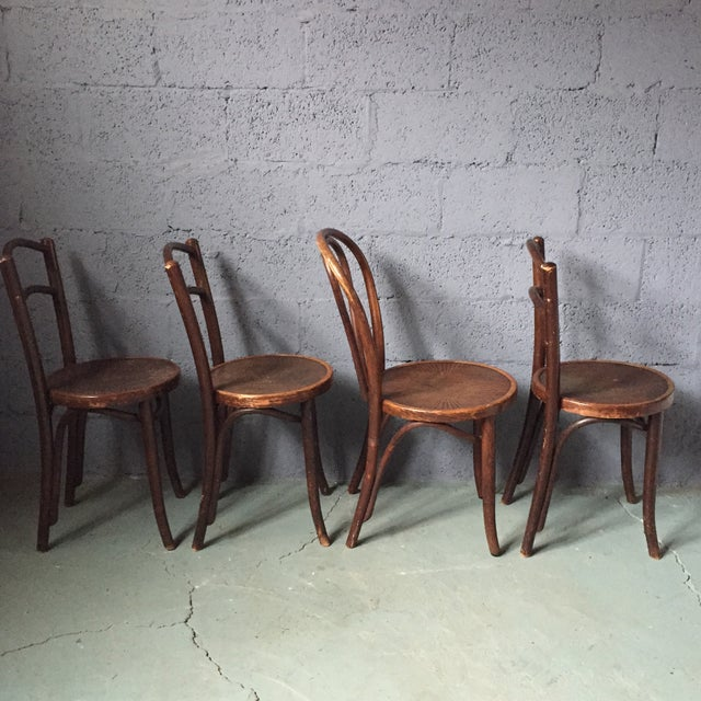 Thonet Bentwood Cafe Chairs - Set of 4 - Image 4 of 11