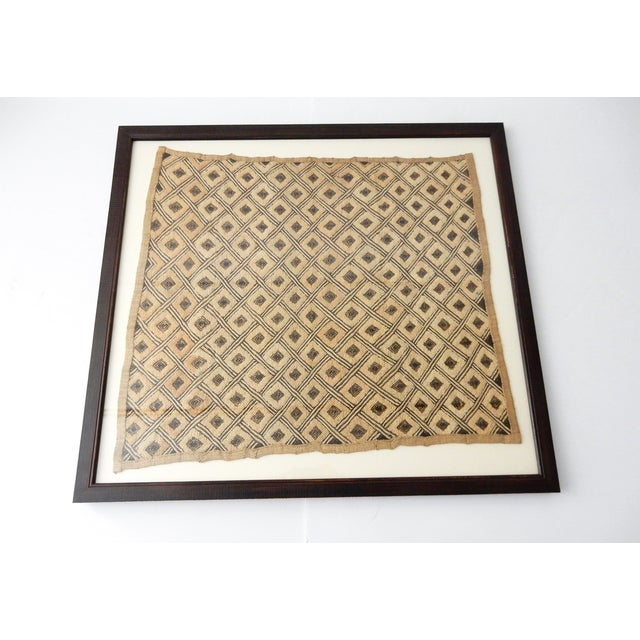 Vintage Framed African Kuba Cloth For Sale - Image 5 of 9