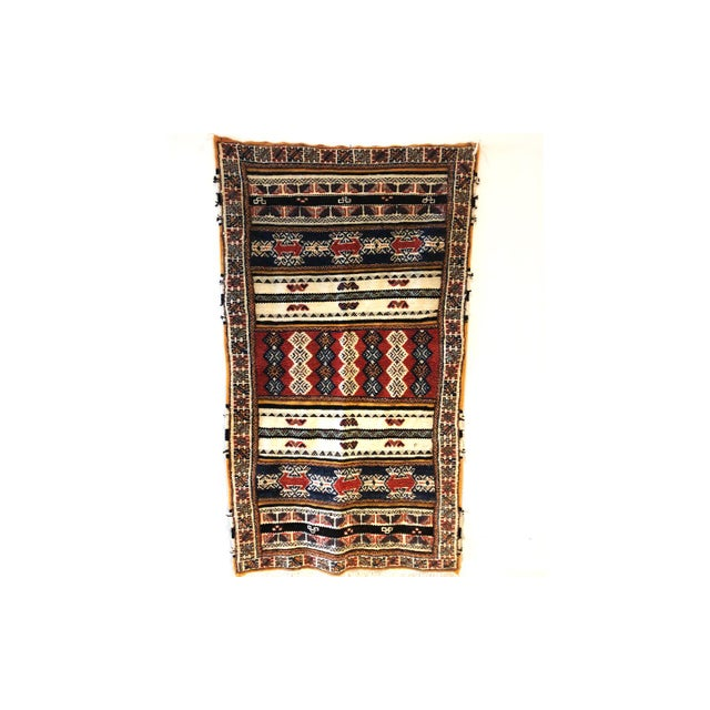 Blue Vintage Moroccan Rug For Sale - Image 8 of 8