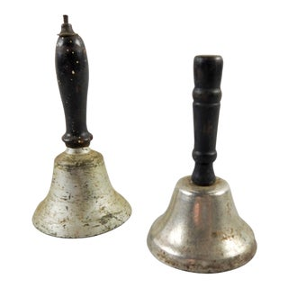 Vintage Hand Bells - A Pair For Sale