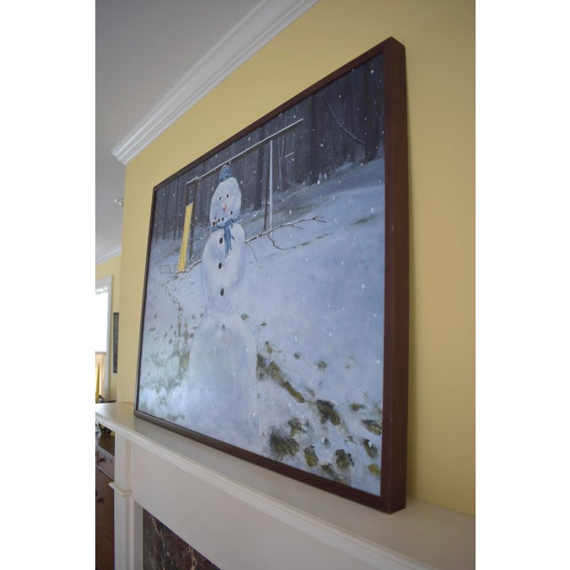 Painting of a Snowman - Image 2 of 7