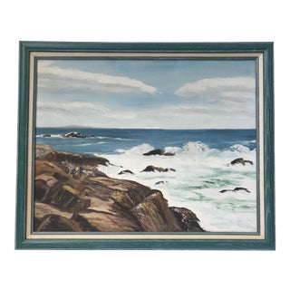 Mid Century Seascape Painting For Sale