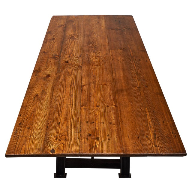 """French """"Atelier"""" French Farm Table For Sale - Image 3 of 10"""