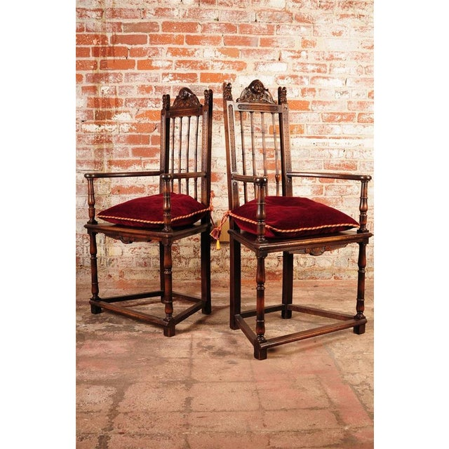 19th Century Reinassance Side Chairs - A Pair - Image 3 of 11