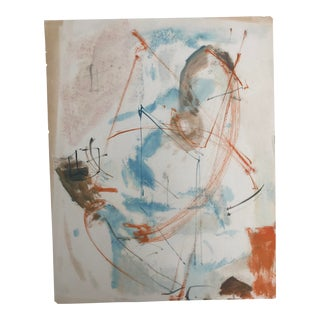 1950's Vintage Abstract Figurative Painting by Robert Colborne For Sale