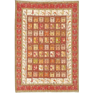 "Pasargad Ny Persian Sumak Silk Rug - 6'3"" X 9'1"" For Sale"