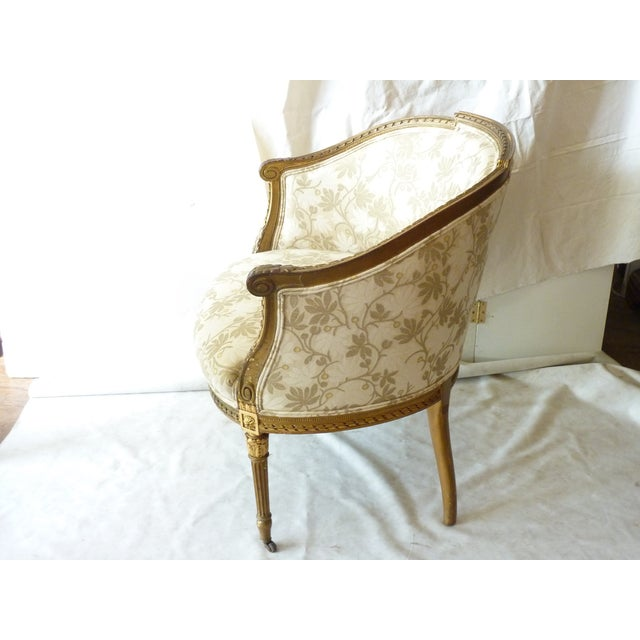French Giltwood Bergere Chair - Image 5 of 11