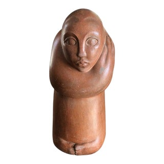 Mid-Century Modern Abstract Statue of a Woman For Sale