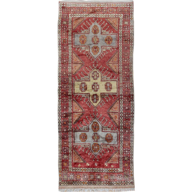 Vintage Turkish Oushak Runner - 3'10 X 9'4 - Image 1 of 3